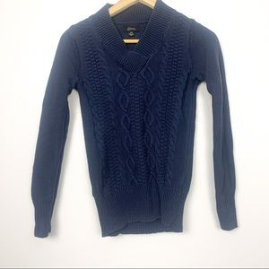 2 for 25 guess v neck cable knit sweater blue S